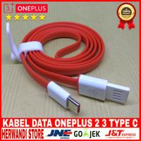 KABEL DATA USB OnePLUS 2 3 TYPE C ORIGINAL 100% FAST CHARGING - Merah