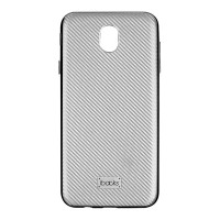 ibacks Castell Carbon for Samsung J7 Pro - Silver