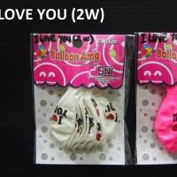 Balon I love you 2w isi 10 pcs