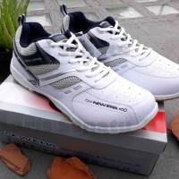Sepatu Olahraga - New Era - Badminton - Putih Biru / Merah