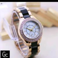 jam tangan cewek wanita ladies Guess rantai keramik