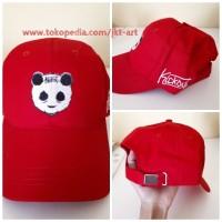 Topi Distro Premium Kickout Merah - Topi Panda CP2