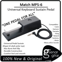Match MPS 6 - Universal Keyboard Piano Style Pedal Sustain MPS6 MPS-6
