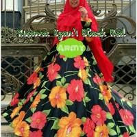 up AL Kirana Syar i Black Red Maxmara klok 4m Ld 105. Pjg 140 Khimar c