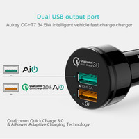 ORIGINAL AUKEY Car Charger Qualcomm Quick Charge 3 0041217 Limited