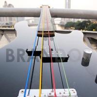 Senar Gitar Bass Elektrik Warna Warni/Colourful Alice A609C (4 Senar)