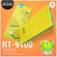 ROBOT RT9100 9000mAh YELLOW GREEN POWERBANK ORI DISTRIBUTOR VIVAN