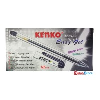 Kenko Pulpen Easy Gel 0.5mm - Tinta Hitam 1 Box (12 pcs)