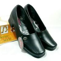 Promo sepatu pantofel kerja wanita sepatu guru kuliah sekolah wanita - Hitam, 40