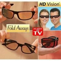 Kaca mata hd vision fold aways(bisa dilipat)free sarung