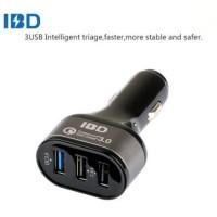 IBD Charger Mobil Qualcomm Quickcharge 3.0 3 Port USB - Black