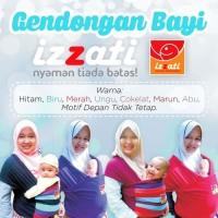 Gendongan Bayi Cantik Izzati Baby Wrap New Born Ori Kaos Lilit Depan