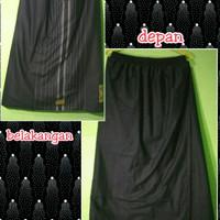 sarung sirwal / celana wadimor hitam polos tumpal dibelakang