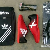 (paket hemat & lengkap) sepatu futsal terbaru adidas x techfit