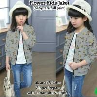 42565-flowers kids jaket   (babytery full print)uk anak 5-7th,pj jaket