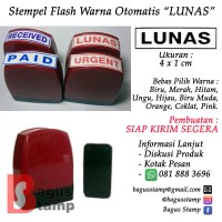 Stempel LUNAS Warna Otomatis Flash