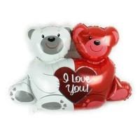 (Murah) Balon Foil Bear I Love You Kecil