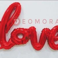 (Murah) Balon foil tulisan love