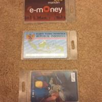 Kantong plastik name tag / id-card/ etoll/ flazz/ kantong panitia/ ATM
