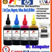 Tinta Printer F1 HP CMYK 100ml (1 Set)