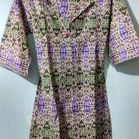 baju atasan batik kembang