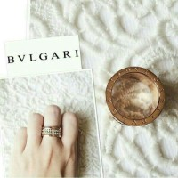 Cincin Bulgari new roman zircon fashion premium stainless
