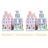 miniatur rumah eropa souvenir eropa oleh oleh eropa holland paris 16cm