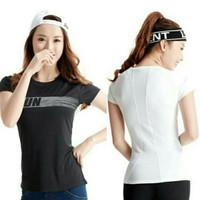 Kaos Senam Sport Olahraga Wanita Gym Yoga Fitness