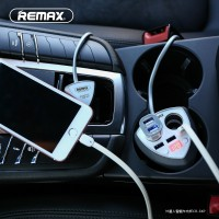 Remax Car Charger 3 USB Port + 2 Car Charger Port With LED - CR-3XP