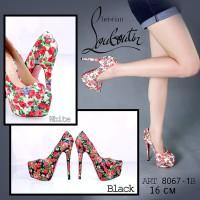 highheels Premium sepatu sandal pesta wanita boot heel gelang import