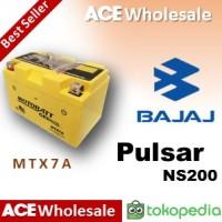 Aki kering/ Pulsar 200 NS/ Bajaj/ MTX7A MOTOBATT u/ Yuasa GS 7A