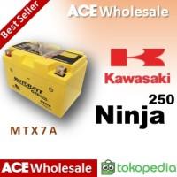 Aki kering/ Ninja 250 fi/ Kawasaki/ MTX7A MOTOBATT u/ Yuasa GS 7A