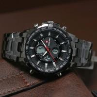 Jam Tangan Pria Swiss Army Rantai Black Dualtime Kw Super