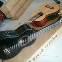 Gitar Akustik Lele Mini Elektrik Inclued Softcase