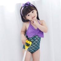 Baju Renang Mermaid Anak Bayi Cewek Unik Lucu Flower Fashion Import