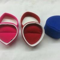 HARGA/12pcs, Kotak Cincin Hati Bludru Kecil Box Cincin Kotak perhiasan
