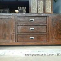 bufet jati minimalis rustic ( furniture,nakas,lemari,cabinet,meja tv )