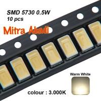 LED SMD 5730 Warm White 3000-3200K 0,5W (1 SETT = 10 pcs)