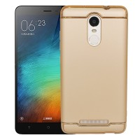 Casing XIAOMI REDMI NOTE 3 - Case 3 in 1 Plated PC Frame Bumper - GOLD