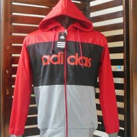 Jaket Parasut/Hoodies Adidas @Fashion/Blazer/Sweater/JaketOlahraga/Gym