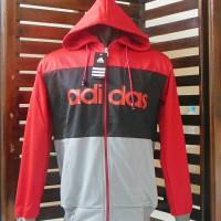 Jaket Parasut/Hoodies Adidas @Fashion/Blazer/Sweater/JaketOlahraga/Gym