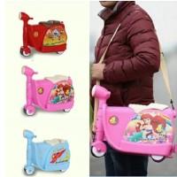Koper Anak Bentuk Scooter Ekonomis Luggage Trolley Tas bag Troli Anak