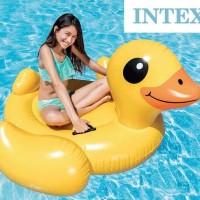 Intex Yellow Duck Ride-On. Ban Pelampung Renang Bebek Kuning
