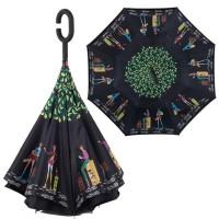 Payung Terbalik /Kazbrella Gagang C reserse Umbrella Motif Lucu Unik
