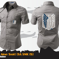 Kemeja Anime Attack On Titan SNK Special Army Shirt (SA SNK 15)