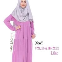 NEW Felisha dress lilac | gamis polos simpel |gamis jersey