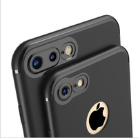 Softcase Jelly Doff Case iPhone 7 7 Plus Casing iPhone 6 6Plus - Hitam, iPhone 6 6s
