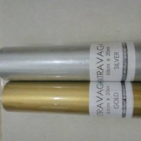 kertas tisu / tissue paper Gold Silver / kertas pompom / buket bunga