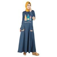 Busana Muslim Wanita Tanpa Kerudung Raindoz RDD 051