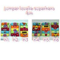 jumper lovelle superhero / jumper bayi/pakaian bayi